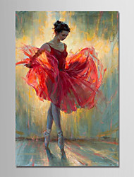 cheap -Oil Painting Hand Painted - People Modern Canvas