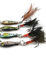 Недорогие -1 pcs штук Жесткая наживка / Металлическая наживка / Набор для рыбалки Жесткая наживка Перья / Металл Простая установка / Легко для того чтобы снести / Легкий вес
