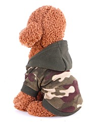 cheap -Rodents / Dogs / Cats Coat / Sweater / Jumpsuit Dog Clothes Classic Camouflage Color Polar Fleece Costume For Pets Female Sports & Outdoors / Stylish