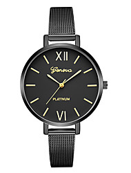 cheap -Geneva Women's Dress Watch / Wrist Watch Chinese New Design / Casual Watch / Cool Alloy Band Casual / Fashion Black / One Year