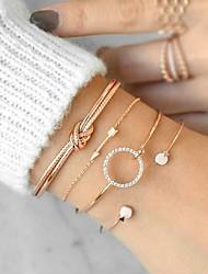 economico -Per donna Vintage Bracciale - Resina Creativo Semplice, Di tendenza, Elegante Bracciali Oro / Argento Per Regalo / Compleanno / 4pcs