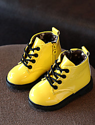 cheap -Girls' Shoes PU(Polyurethane) Fall & Winter Comfort / Fashion Boots Boots Walking Shoes for Kids Black / Yellow / Peach / Booties / Ankle Boots