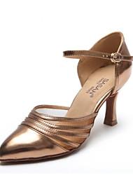 baratos -Mulheres Sapatos de Dança Moderna Couro Ecológico Salto Salto Grosso Sapatos de Dança Preto / Marron