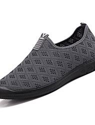 baratos -Homens sapatos Couro Ecológico Outono Conforto Mocassins e Slip-Ons Preto / Azul Escuro / Cinzento