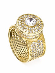 cheap -Men's AAA Cubic Zirconia Stylish Statement Ring / Ring - Creative Trendy, Hyperbole, Hip-Hop 8 / 9 / 10 Gold / Silver For Club / Bar