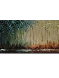 cheap -STYLEDECOR Modern Hand Painted Abstract The Blue and Light Yellow Trees on Canvas Oil Painting for Wall Art