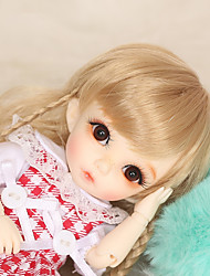 cheap -OuenElfs Ball-joined Doll / BJD / Blythe Doll Baby Girl 6 inch Full Body Silicone - High-Temperature Resistant Fibre Wigs Kid's Girls' Gift