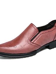 Недорогие -Муж. Официальная обувь Искусственный мех Наступила зима Мокасины и Свитер Желтый / Красный / Свадьба / Для вечеринки / ужина