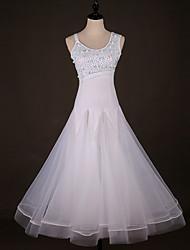 cheap -Ballroom Dance Dresses Women's Performance Spandex Ruching / Crystals / Rhinestones Sleeveless Dress