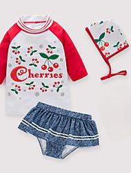 baratos -Infantil / Bébé Para Meninas Floral Roupa de Banho