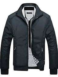 cheap -Men's Sports Jacket - Solid Colored Stand / Long Sleeve