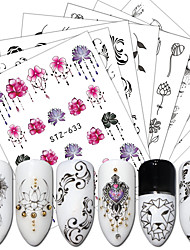 cheap -24 pcs Stickers nail art Manicure Pedicure Lace Nail Decals Daily Wear / Festival