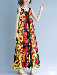 preiswerte -Damen A-Linie Kleid Maxi