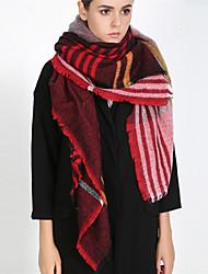 abordables -Mujer Borla Cuadrado - Básico / Vacaciones A Rayas Negro y Rojo