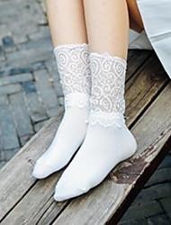 Недорогие -Жен. Носки Кружева Формирование ног Хлопок EU36-EU42