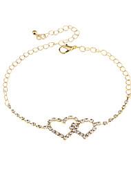 abordables -Femme Chaîne unique Chaînes & Bracelets - Mini Mode, Le style mignon Bracelet Or / Argent Pour Vacances Festival