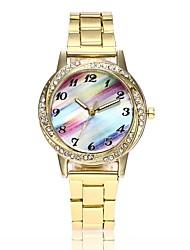 Недорогие -Жен. Нарядные часы Наручные часы Diamond Watch Кварцевый Серебристый металл / Золотистый / Розовое золото Новый дизайн Повседневные часы Имитация Алмазный Аналоговый Дамы На каждый день Мода -