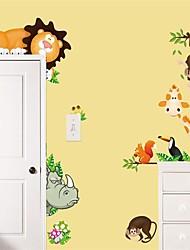 Недорогие -Декоративные наклейки на стены - Простые наклейки Животные В помещении / Детская