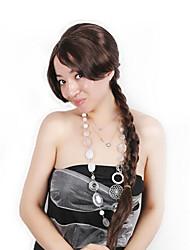 Недорогие -Парики из искусственных волос Маскарадные парики Прямой Стиль тесьма Машинное плетение Парик Темно-коричневый Искусственные волосы 30 дюймовый Жен. Модный дизайн Косплей Женский Темно-коричневый Парик