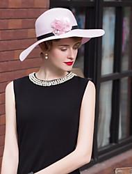 abordables -Fibre naturelle Chapeaux avec Fleur 1pc Décontracté / Usage quotidien Casque