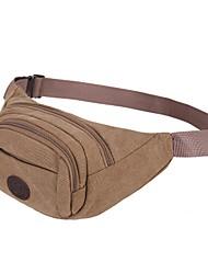 baratos -Unisexo Bolsas Poliéster Sling sacos de ombro Bloco de Cor Preto / Camel / Café