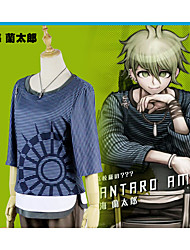 cheap -Inspired by Dangan Ronpa Amami Rantarou Anime Cosplay Costumes Cosplay Suits Stripe 1 Necklace / Pants / T-shirt For Women's Halloween Costumes