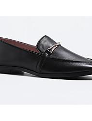 abordables -Femme Chaussures Cuir Nappa Printemps & Automne Confort Mocassins et Chaussons+D6148 Talon Plat Blanc / Noir / Marron