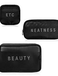 baratos -Portátil / Conjuntos / Multi-Função Maquiagem 3 pcs Mistura de Material Quadrada Cuidados / Diário / Cosmético Na moda / Alta qualidade Roupa Diária Maquiagem para o Dia A Dia Multifuncional Cosmético
