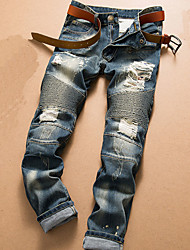 economico -Per uomo Attivo Jeans Pantaloni - Fantasia geometrica