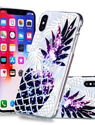 Недорогие -Кейс для Назначение Apple iPhone X / iPhone 8 Plus С узором Кейс на заднюю панель Фрукты Мягкий ТПУ для iPhone X / iPhone 8 Pluss / iPhone 8