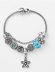 cheap -Women's Single Strand / Beads Strand Bracelet / Bracelet - Creative, Flower Shape Stylish, Dangling Style Bracelet Dark Blue / Pink / Light Blue For Party / Date