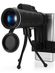 baratos -40 X 52 mm Monocular Visão Nocturna Preto Caça / Exercicio Exterior / Campismo / Escursão / Espeleologismo Impermeável / Visão Nocturna / Observação de Pássaros
