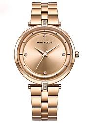 cheap -Women's Wrist Watch Quartz Noctilucent Stainless Steel Band Analog Fashion Black / Blue / Gold - Black Blue Rose Gold