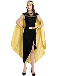cheap -Egyptian Costume Costume Women's Halloween Carnival Masquerade Festival / Holiday Halloween Costumes Outfits Black Solid Colored Halloween Halloween