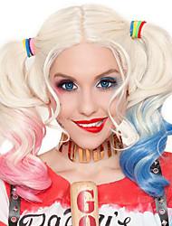 billige -Syntetiske parykker / Kostumeparykker Krøllet Bob frisure Syntetisk hår 28 inch Moderigtigt Design / Cosplay / Farvegradient Blåt / Pink Paryk Dame Lang Maskinproduceret