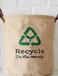Недорогие -Ткань Круглый Новый дизайн Главная организация, 1шт Корзина для белья / Корзины для хранения