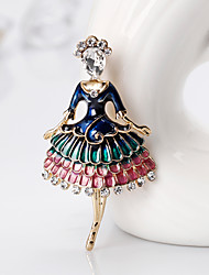 cheap -Women's Stylish Brooches - Princess, Creative European, Fashion Brooch Assorted Color For Gift / Daily