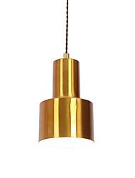 Недорогие -Северная Европа Современная гальванизированная металлическая тень столовая мини-подвеска с подсветкой 1 лампа e26 / e27