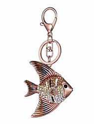 cheap -Fish Keychain Rose Gold Irregular, Animal Imitation Diamond, Alloy Diamond / Rhinestone Decorated Case, Fashion For Gift / Daily