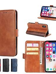 Недорогие -Кейс для Назначение Apple iPhone X / iPhone 8 Plus / iPhone XS Кошелек / Бумажник для карт / со стендом Чехол Плитка Твердый Кожа PU для iPhone XS / iPhone XR / iPhone XS Max