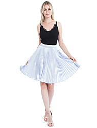 cheap -Wedding Party / Party / Cocktail Slips Polyester Knee-Length Tutus & Skirts / Bridal with Ruching