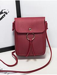 baratos -Mulheres Bolsas PU Telefone Móvel Bag Botões Rosa / Marron / Cinzento Claro