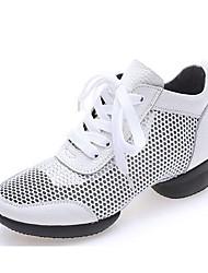 economico -Per donna Sneakers da danza moderna Nappa / Retato Sneaker Tacco spesso Personalizzabile Scarpe da ballo Bianco / Nero / Rosso