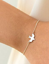 cheap -Women's Single Strand / Rolo Bracelet - Bird Simple, Casual / Sporty, Fashion Bracelet Gold For Daily / Date