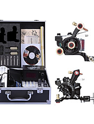 cheap -Tattoo Machine Professional Tattoo Kit - 2 pcs Tattoo Machines, High Speed / Variable Speeds / Professional Level Alloy # Case Not Included 2 alloy machine liner & shader