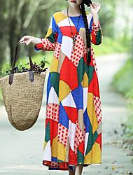 preiswerte -Damen Swing Kleid Einfarbig Maxi