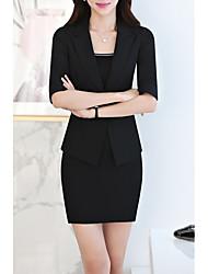 baratos -Mulheres Ternos / Conjuntos Trabalho Sólido