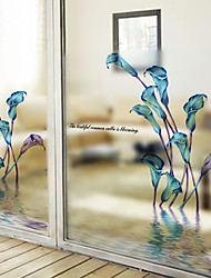 Недорогие -Оконная пленка и наклейки Украшение штейн / Современный Цветы / Персонажи ПВХ Стикер на окна / Матовая