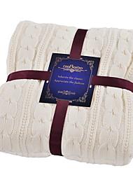 Недорогие -Супер мягкий, Активный краситель Однотонный Трикотаж одеяла