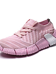 Недорогие -Жен. Обувь Сетка / Эластичная ткань Весна лето Удобная обувь Спортивная обувь Беговая обувь На плоской подошве Круглый носок Серый / Розовый